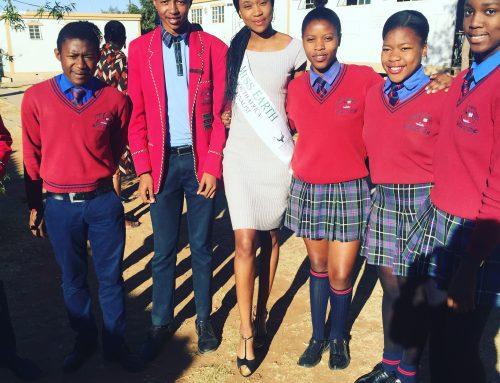 Naledi Khanyapa : School visit at Seshegong Secondary School,Olievenhoutbosch